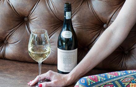Foto van een glas wijn